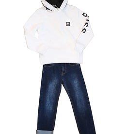 Hugo Boss witte sweater hoodie