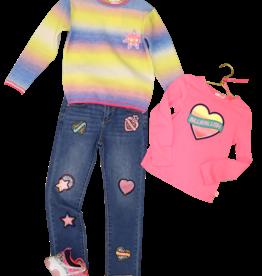 Billieblush streep trui zachte kleuren
