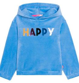 Billieblush blauwe hoodie  happy