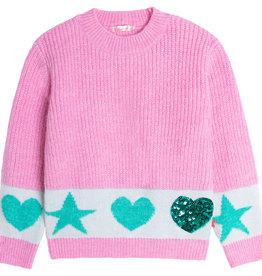 Billieblush roze trui met hart en ster