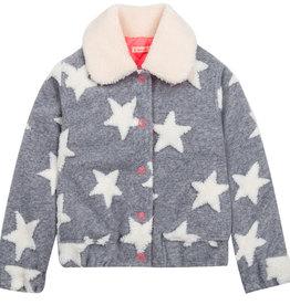 Billieblush teddy jasje grijs sterren