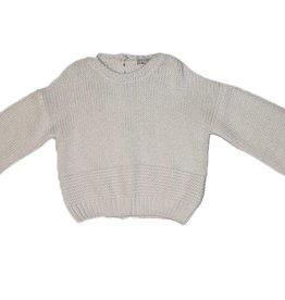 Il Gufo gebreide witte trui achter knoopjes