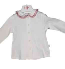 Il Gufo ecru blouse kraagje print