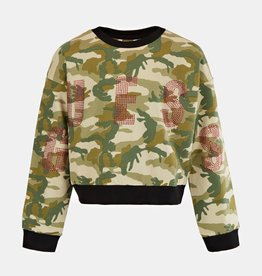 Guess sweater camouflage print