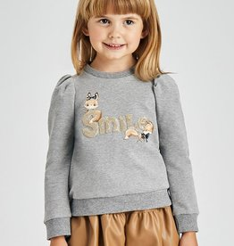 Mayoral sweater grijs smile goud
