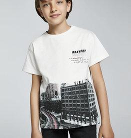 Mayoral T-shirt ecru km buildings