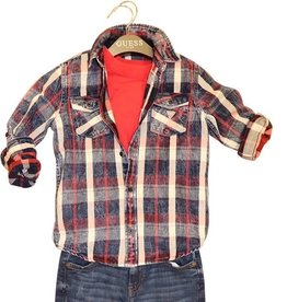 Guess ruiten hemd rood, wit, blauw