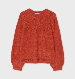 Mayoral oranje slub trui met wijdere mouw