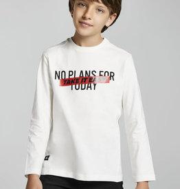 Mayoral T-shirt ecru take it easy