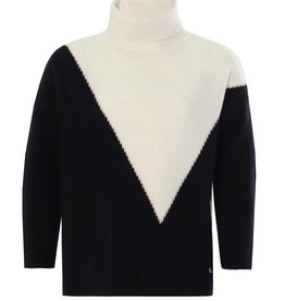 Kocca wollen trui zwart/wit en achter zwart