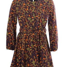 Kocca jurk oranje en kaki