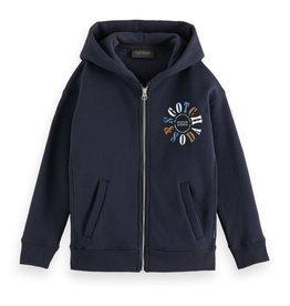 Scotch&Soda navy hoodie met rits