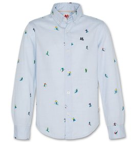 AO76 lichtblauw hemd skiers