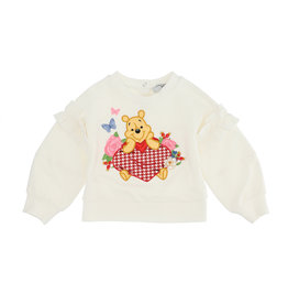 Monnalisa ecru sweater winnie de pooh