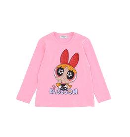 Monnalisa T-shirt roze blossom