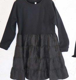 Imperial jurk zwart effen