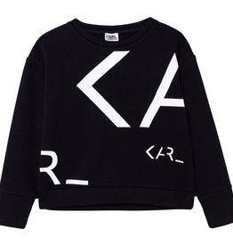 Karl Lagerfeld zwarte sweater letters wit KARL