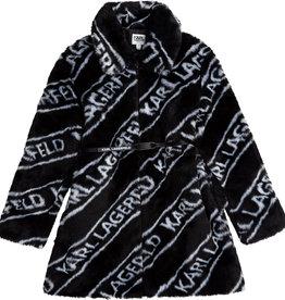 Karl Lagerfeld jas zwart witte letters