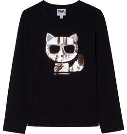 Karl Lagerfeld zwart t-shirt lm poes