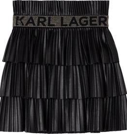 Karl Lagerfeld zwarte plisse rok lagen