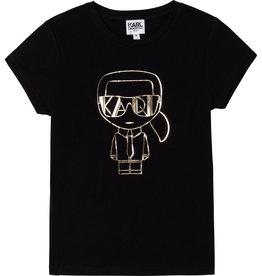 Karl Lagerfeld zwart t-shirt letters goud
