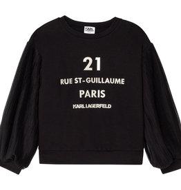 Karl Lagerfeld zwarte sweater met 21