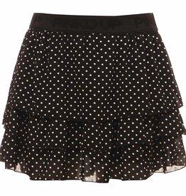 Pinko Up Zwarte stroken rok met witte stippen