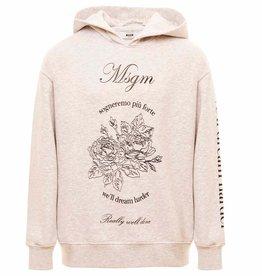 MSGM hoodie sweater lichtgrijs