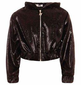 MSGM zwarte cropped sweater chenille