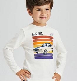 Mayoral T-shirt ecru auto arizona