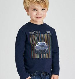 Mayoral T-shirt donkerblauw auto montana