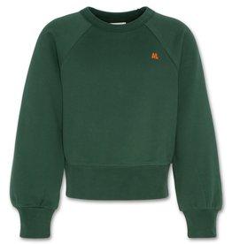 AO76 basis sweater ronde hals bavo groen