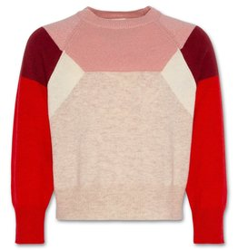 AO76 trui zand roze rood
