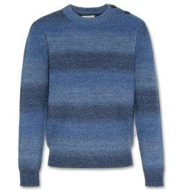 AO76 strepen trui in blauwe tinten