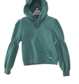 Please sweater groen met kap