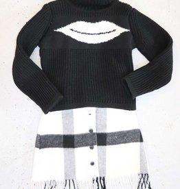 Imperial rok ecru zwart franjes