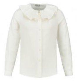 Il Gufo blouse ecru met grote kraag