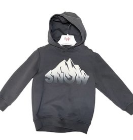 Il Gufo donkergrijze hoodie snow