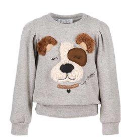 Elsy grijze sweater met hond