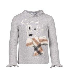 Elsy T-shirt grijs met hondje