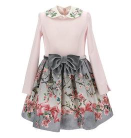 Monnalisa jurk roze en bloemen rok