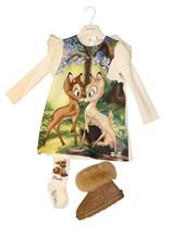 Monnalisa ecru collant met bambi
