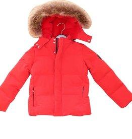 Guess rode dons jas k met steekzakken en kap afritsbaar