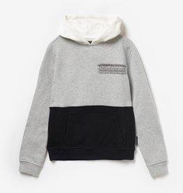 Le temps des cerises sweater zwart grijs ecru kap