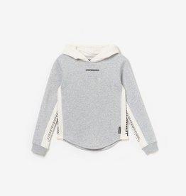Le temps des cerises sweater grijs ecru kap