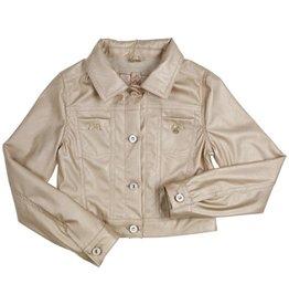 Gymp Mylo blazer goud leather jacket