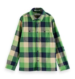 Scotch&Soda hemd ruit flanel groen