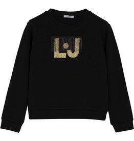 Liu Jo sweater zwart logo gold
