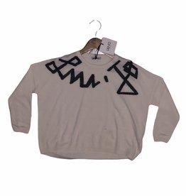 Liu Jo trui sweater ecru zwart