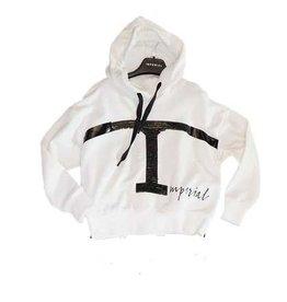 Imperial sweater wit kap pailetten T